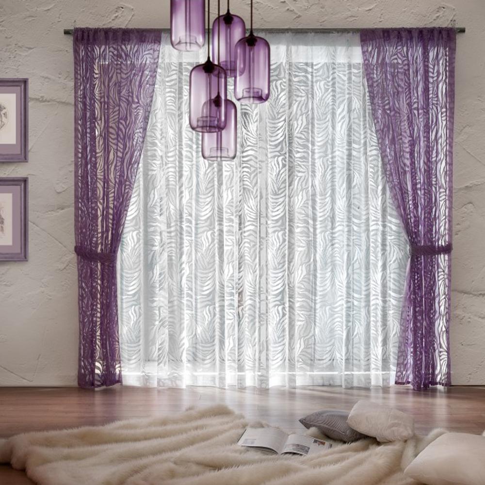 Комплект штор Wisan Adelajda, на ленте, цвет: белый, фиолетовый, высота 250 см10503Комплект штор Wisan Adelajda выполненный из полиэстера, великолепно украсит любое окно. В комплект входят 2 шторы, тюль и 2 подхвата.Интересный крой, и оригинальный узор придают комплекту особый стиль и шарм. Тонкое плетение, нежная цветовая гамма и роскошное исполнение - все это делает шторы Wisan Adelajda замечательным дополнением интерьера помещения.Комплект оснащен шторной лентой для красивой сборки. В комплект входит: Штора - 2 шт. Размер (ШхВ): 140 см х 250 см. Тюль - 1 шт. Размер (ШхВ): 400 см х 250 см. Подхват - 2 шт.Фирма Wisan на польском рынке существует уже более пятидесяти лет и является одной из лучших польских фабрик по производству штор и тканей. Ассортимент фирмы представлен готовыми комплектами штор для гостиной, детской, кухни, а также текстилем для кухни (скатерти, салфетки, дорожки, кухонные занавески). Модельный ряд отличает оригинальный дизайн, высокое качество. Ассортимент продукции постоянно пополняется.