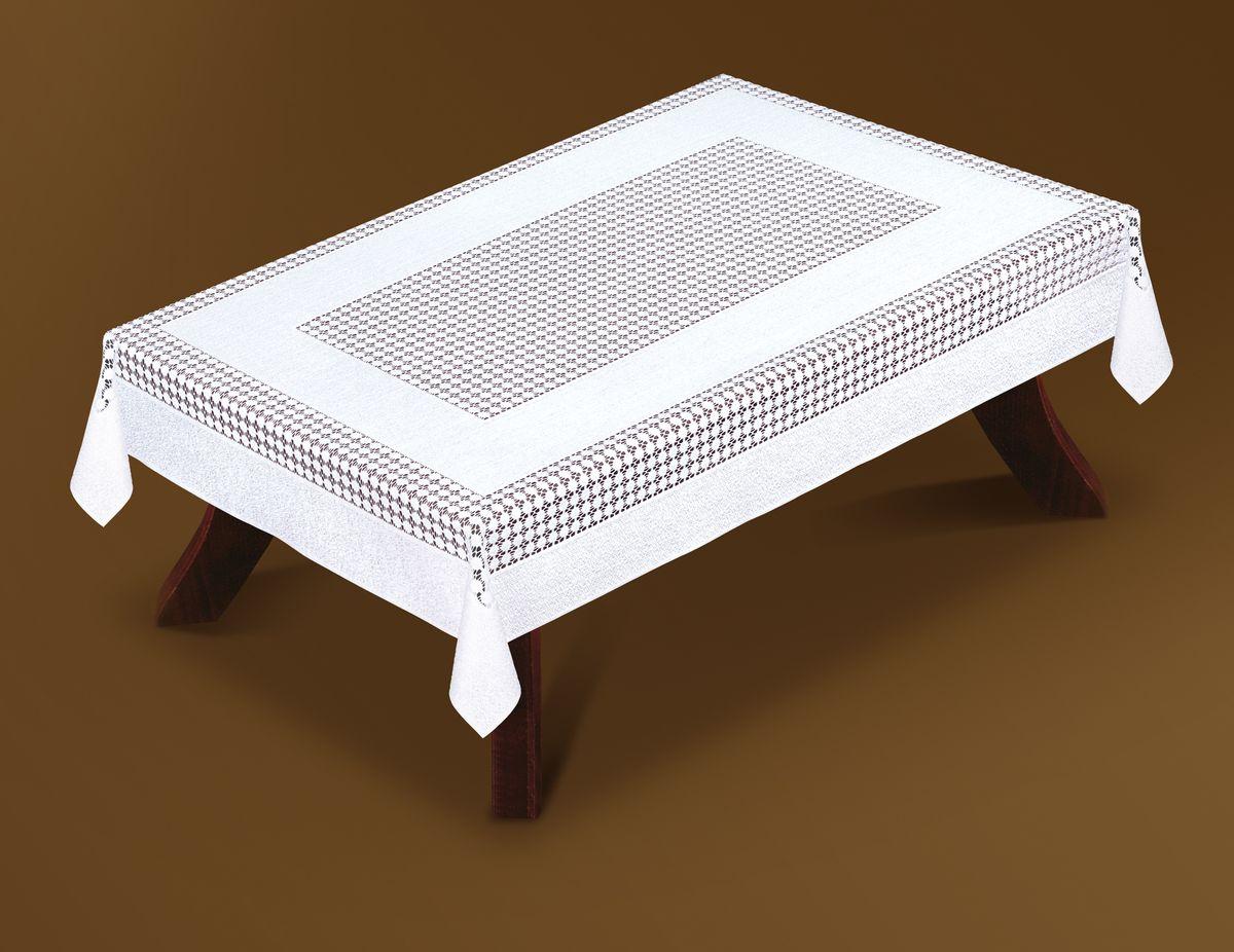 Скатерть Haft Gold Line, прямоугольная, цвет: белый, 120 x 160 см. 207550/120207550/120Великолепная прямоугольная скатерть Haft Gold Line, выполненная из полиэстера, органично впишется в интерьер любого помещения, а оригинальный дизайн удовлетворит даже самый изысканный вкус. Скатерть изготовлена из сетчатого материала с ажурным рисунком. Скатерть Haft Gold Line создаст праздничное настроение и станет прекрасным дополнением интерьера гостиной, кухни или столовой.