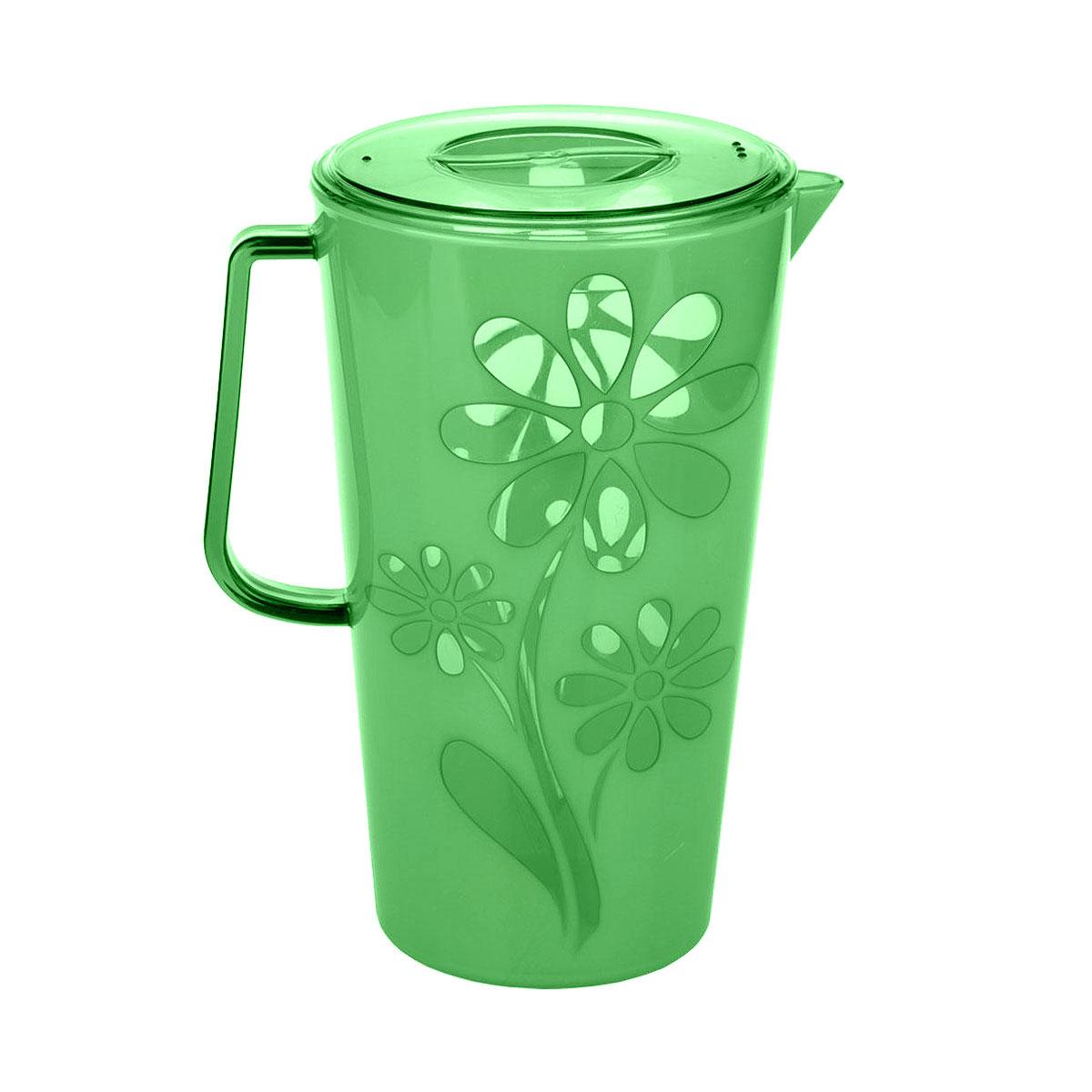 Кувшин Альтернатива Соблазн, цвет: зеленый, 2,5 лVT-1520(SR)Кувшин Альтернатива Соблазн, выполненный из пластика, украсит ваш стол. Кувшин оснащен ручкой и носиком для удобного наливания. Изделие прекрасно подойдет для подачи воды, сока, компота и других напитков.