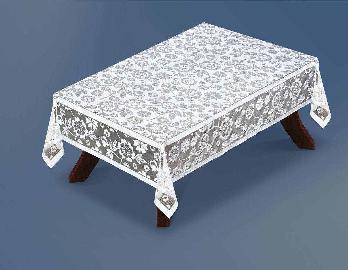 Скатерть Haft Silver Line, прямоугольная, цвет: белый, 120 x 160 см. 221410/120221410/120Великолепная прямоугольная скатерть Haft Silver Line, выполненная из полиэстера, органично впишется в интерьер любого помещения, а оригинальный дизайн удовлетворит даже самый изысканный вкус. Скатерть изготовлена из сетчатого материала с ажурным цветочным рисунком. Скатерть Haft Silver Line создаст праздничное настроение и станет прекрасным дополнением интерьера гостиной, кухни или столовой.