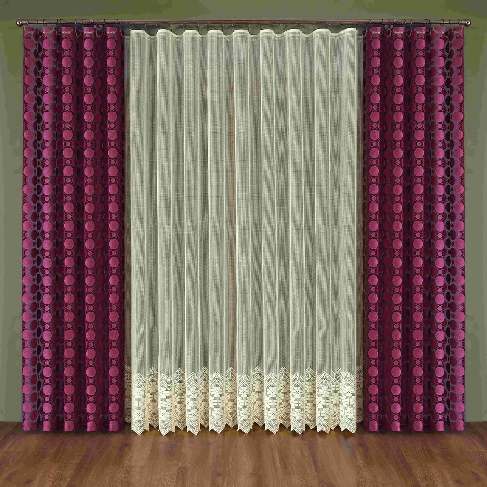 Комплект штор Wisan Maura, на ленте, цвет: бордовый, бежевый, высота 250 смW347Комплект штор Wisan Maura выполненный из полиэстера, великолепно украсит любое окно. Тонкое плетение, оригинальный дизайн привлекут к себе внимание и органично впишутся в интерьер. В комплект входят 2 шторы и тюль. Кружевной узор придает комплекту особый стиль и шарм. Тонкое жаккардовое плетение, нежная цветовая гамма и роскошное исполнение - все это делает шторы Wisan Maura замечательным дополнением интерьера помещения. Комплект оснащен шторной лентой для красивой сборки. В комплект входит: Штора - 2 шт. Размер (ШхВ): 150 см х 250 см. Тюль - 1 шт. Размер (ШхВ): 350 см х 250 см. Фирма Wisan на польском рынке существует уже более пятидесяти лет и является одной из лучших польских фабрик по производству штор и тканей. Ассортимент фирмы представлен готовыми комплектами штор для гостиной, детской, кухни, а также текстилем для кухни (скатерти, салфетки, дорожки, кухонные занавески). Модельный ряд отличает оригинальный дизайн, высокое...
