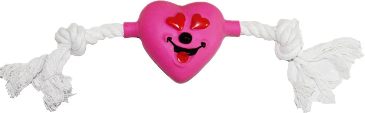 Игрушка для собак Ziver Сердце на канате, с пищалкой, цвет: розовый, длина 25 см40.ZV.108Игрушка Ziver Сердце на канате изготовлена из высококачественного латекса с использованием только безопасных, не токсичных красителей. Игрушка выполнена в виде милой мышки с канатом и при надавливании или захвате пастью пищит. Привлечет внимание вашего любимца, позволит весело провести ему время, не навредит здоровью, а также поможет вам сохранить в целости личные вещи и предметы интерьера. Размер: 25 см х 2,5 см х 5 см.