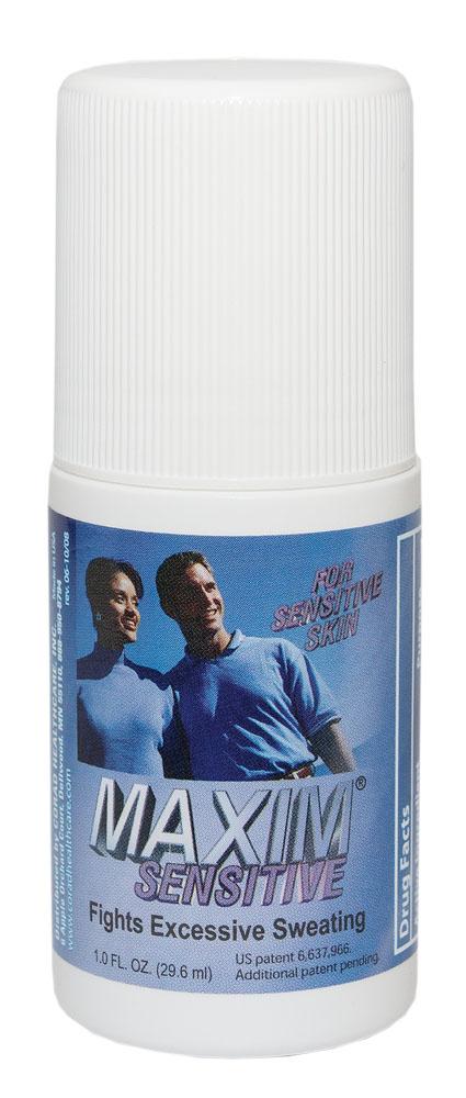 Maxim 10,8% Дезодорант-антиперсперант с шариковым аппликатором для чувствительной кожи, 29,5 мл0027-MSАнтиперспирант Maxim для чувствительной кожи — уникальный роликовый антиперспирант на водной основе. Он не содержит спирта и имеет в своем составе меньшее содержание солей хлорида алюминия. Специально разработан для нежной и чувствительной кожи. Действие: Антиперспирант Maxim 10.8% устраняет повышенное потоотделении, не блокируя работу потовыводящих желез. Эффект сухости заключается в сужении пор кожи. Это достигается взаимодействием хлорида алюминия и кожного белка. Далее идет перераспределение испарений пота в те места, где оно является обычным при нормальной работе организма. Также излишняя влага может выводиться при помощи почек. В результате мы получаем сухим обрабатываемый участок, и одновременно не наблюдается компенсаторного гипергидроза в других местах. Нерастворимость алюминиево-белковых образований и 0% спирта в составе гарантирует полное отсутствие абсорбции алюминия в организме, и делает антиперспирант Maxim очень безопасным в долгосрочном использовании. • Не имеет...