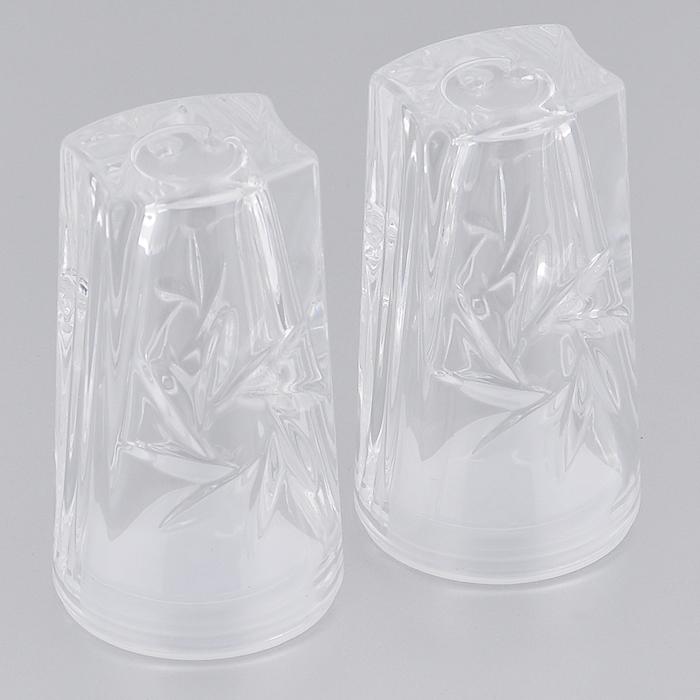 Набор для специй Crystal Bohemia Мельница, 2 предмета990/78423/0/26080/074-209Набор для специй Crystal Bohemia Мельница, изготовленный из высококачественного хрусталя с пластиковой крышкой, состоит из солонки и перечницы. Емкости изящной формы оформлены оригинальным рельефом. Солонка и перечница легки в использовании: стоит только перевернуть емкости, и вы с легкостью сможете поперчить или добавить соль по вкусу в любое блюдо. Набор для специй Crystal Bohemia Мельница будет прекрасным украшением вашего стола. Высота емкости: 7,5 см. Диаметр основания: 4,2 см.