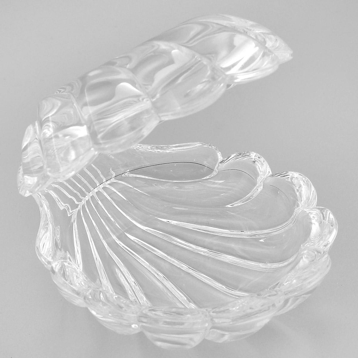 Доза Crystal Bohemia Ракушка, 7,5 х 9 х 8 смFS-91909Доза Crystal Bohemia Ракушка изготовлена из высококачественного хрусталя. Доза выполнена в форме открытой ракушки и сочетает в себе изысканный дизайн с максимальной функциональностью. Она прекрасно впишется в интерьер вашего дома. Доза подчеркнет прекрасный вкус хозяйки и станет отличным подарком.
