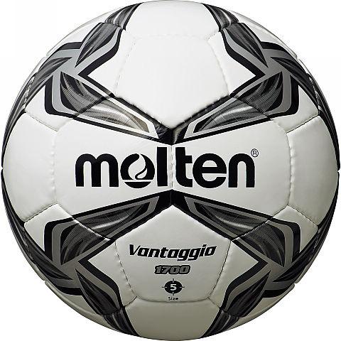 Мяч футбольный Molten, цвет: белый, черный, серый. Размер 5F5V1700-KФутбольный мяч Molten отлично подойдет для школьных тренировок или для отдыха. Он выполнен из прочной ПВХ синтетической кожи и сшит вручную. Долговечен, имеет яркий окрас.