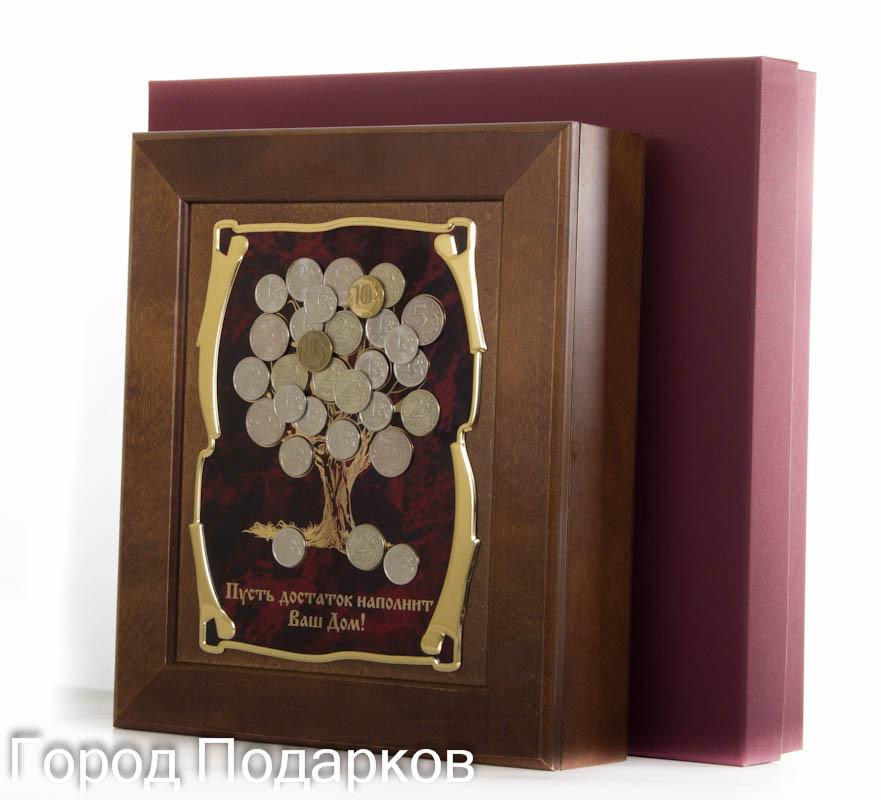 """Ключница Денежное дерево """"Пусть достаток наполнит Ваш Дом!"""", 36,5 х 32 см, подарочная коробка 50208002"""