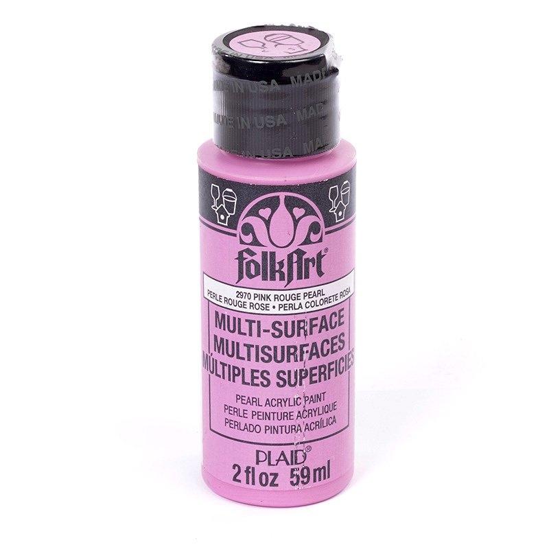 Краска акриловая FolkArt Multi-Surface Pearl, цвет: перламутровый розовый (2970), 59 млPLD-02970Краска акриловая FolkArt Multi-Surface Pearl - это прочная погодоустойчивая сатиновая краска с перламутровым отливом. Не токсична, на водной основе. Предназначена для различных видов поверхностей: стекло, керамика, дерево, металл, пластик, ткань, холст, бумага, глина. Идеально подходит как для использования в помещении, так и для наружного применения. Изделия, покрытые такой краской, можно мыть в посудомоечной машине в верхнем отсеке. Перед применением краску необходимо хорошо встряхнуть. Краски разных цветов можно смешивать между собой. Перед повторным нанесением краски дать высохнуть в течении 1 часа. До высыхания может быть смыта водой с мылом.