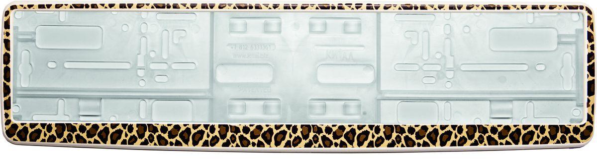 Рамка под номер ЛеопардЗ0000013382Рамка Леопард не только закрепит регистрационный знак на вашем автомобиле, но и красиво его оформит. Основание рамки выполнено из полипропилена, материал лицевой панели - пластик. Она предназначена для крепления регистрационного знака российского и европейского образца, декорирована принтом. Устанавливается на все типы автомобилей. Крепления в комплект не входят. Стильный дизайн идеально впишется в экстерьер вашего автомобиля. Размер рамки: 53,5 см х 13,5 см. Размер регистрационного знака: 52,5 см х 11,5 см.