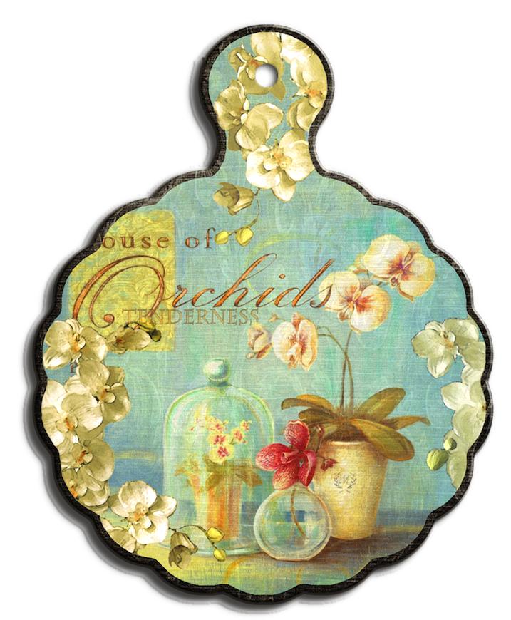 Подставка под горячее GiftnHome Нежность орхидеи, 18 х 23 смVT-1520(SR)Подставка под горячее GiftnHome Нежность орхидеи выполнена из высококачественной керамики. Изделие, декорированное красочным изображением, идеально впишется в интерьер современной кухни. Специальное пробковое основание подставки защитит вашу мебель от царапин. Подставка имеет отверстие, за которое ее можно повесить в любое удобное место. Изделие не боится высоких температур и легко чиститься от пятен и жира.Каждая хозяйка знает, что подставка под горячее - это незаменимый и очень полезный аксессуар на каждой кухне. Ваш стол будет не только украшен оригинальной подставкой с красивым рисунком, но и сбережен от воздействия высоких температур ваших кулинарных шедевров. Нельзя мыть в посудомоечной машине.Размер подставки: 18 см х 23 см х 1 см.
