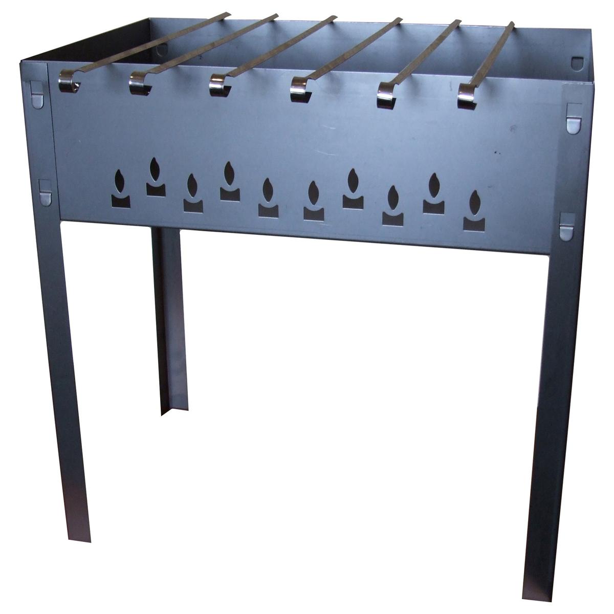 Мангал сборный Грилькофф Стандарт, 6 шампуров, 50 см х 50 см х 30 см8Сборный переносной мангал Грилькофф Стандарт изготовлен из нержавеющей стали. Предназначен для приготовления мяса, птицы, рыбы, овощей на открытом воздухе. Мангал хорошо поддерживает жар, не требуя большого количества топлива. Простота и легкость конструкции мангала обеспечивают его быструю сборку и длительную эксплуатацию. В разобранном виде мангал очень компактен, благодаря чему он не занимает много места, например, в багажнике автомобиля. В комплекте с мангалом 6 шампуров. Размер мангала: 50 см х 50 см х 30 см.