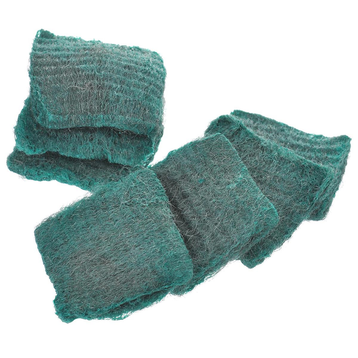 Губки с мылом Home Queen, цвет: зеленый, 7 шт42Губки с мылом Home Queen идеально очищают сложные загрязнения, такие как: ржавчина, известковый налет, пригоревший жир, накипь. В наборе - 7 губок, изготовленных из тончайшего стального волокна. Мыло содержит тензиды, растворяющие жир, и пальмовое масло, которое заботиться о ваших руках. Губки Home Queen - экологически чистый продукт. Его чистящие и моющие компоненты разлагаются биологическим путем. Размер губки: 6 см х 6 см х 1,5 см. Количество губок: 7 шт.