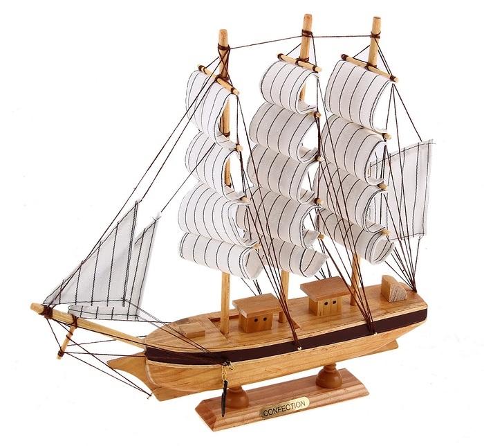 Корабль сувенирный Confection, длина 30 см432011Сувенирный корабль Confection, изготовленный из дерева и текстиля, это великолепный элемент декора рабочей зоны в офисе или кабинете. Корабль с парусами и якорями помещен на деревянную подставку. Время идет, и мы становимся свидетелями развития технического прогресса, новых учений и практик. Но одно не подвластно времени - это любовь человека к морю и кораблям. Сувенирный корабль наполнен историей и силой океанских вод. Данная модель кораблика станет отличным подарком для всех любителей морей, поклонников историй о покорении океанов и неизведанных земель. Модель корабля - подарок со смыслом. Издавна на Руси считалось, что корабли приносят удачу и везение. Поэтому их изображения, фигурки и точные копии всегда присутствовали в помещениях. Удивите себя и своих близких необычным презентом.
