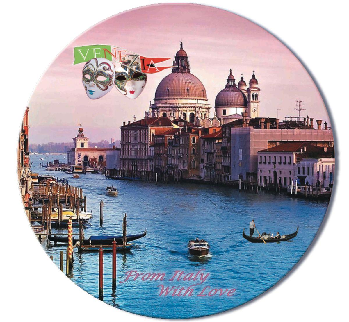 Доска разделочная GiftnHome Венеция, стеклянная, диаметр 19 смRCB-VeneziaРазделочная доска GiftnHome Венеция выполнена из жароустойчивого стекла. Изделие, украшенное красочным изображением, идеально впишется в интерьер современной кухни. Специальное покрытие вкладыша обеспечивает стойкость к влаге и высоким температурам. Изделие легко чистить от пятен и жира. Также доску можно применять как подставку под горячее. Разделочная доска GiftnHome Венеция украсит ваш стол и сбережет его от воздействия высоких температур ваших кулинарных шедевров. Можно мыть в посудомоечной машине. Диаметр доски: 19 см. Толщина доски: 0,4 см.