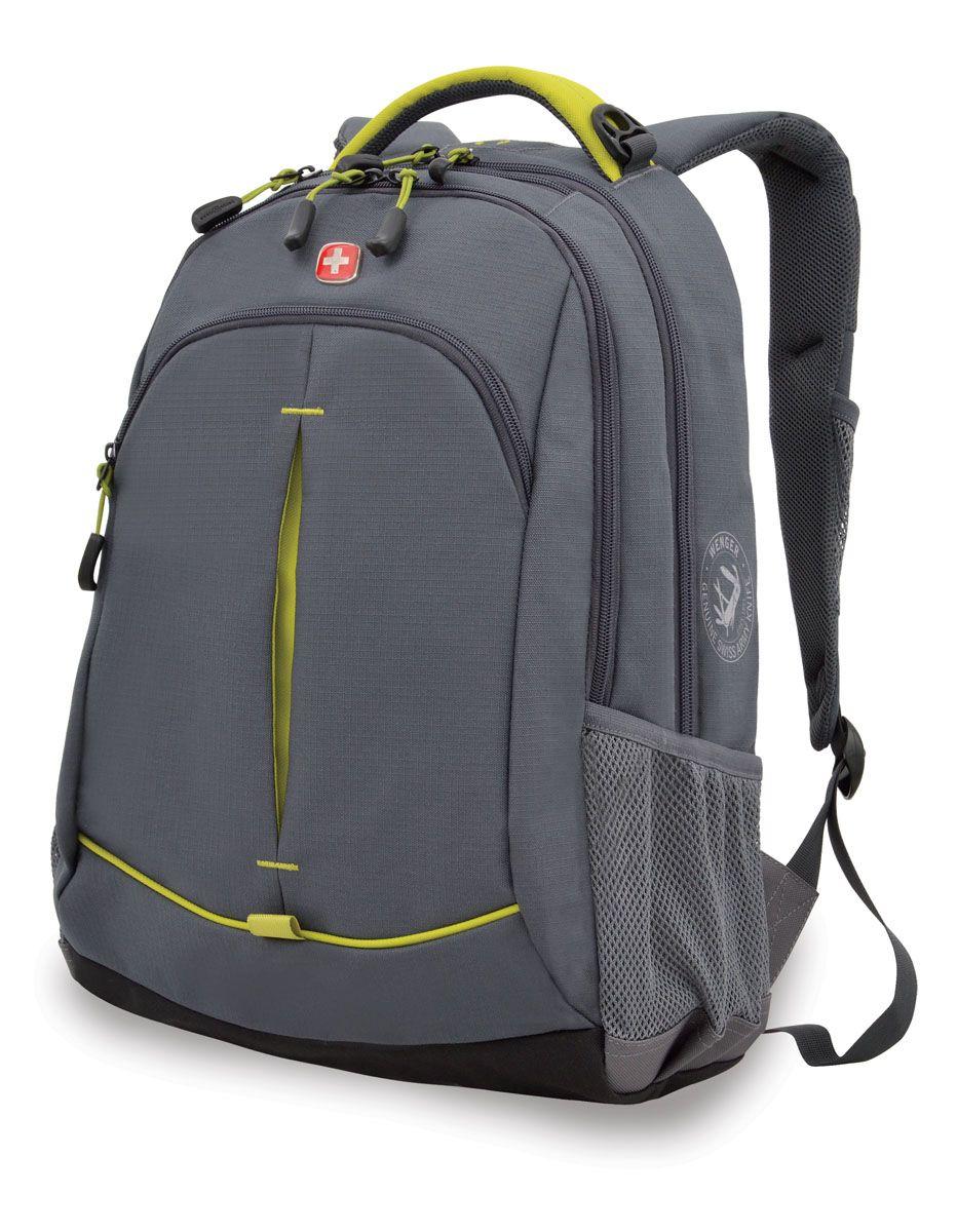 Рюкзак Wenger, цвет: серый, лаймовый, 32 см х 15 см х 46 см, 22 лBP-001 BKРюкзак Wenger - это самодостаточный, многофункциональный и надежный спутник своего владельца, как и знаменитый швейцарский нож! Благодаря многофункциональности рюкзака, вы можете легко организовать свои вещи, отправив ключи, мобильный телефон и еще тысячу мелочей в специальный карман-органайзер. После этого останется еще много места для других необходимых вещей. Рюкзаки и сумки Wenger - это прежде всего современные материалы и фурнитура от надежных поставщиков и швейцарский контроль качества, благодаря которому репутация компании была и остается столь высокой. Продуманная конструкция и современные технологии проявляются главным образом в потрясающей надежности рюкзаков и сумок Wenger. А ведь надежность - самое важное качество и в амуниции, и в людях! Особенности:Эргономичные плечевые ремни анатомической формы с пропускающей воздух набивной подкладкой для комфортного ношения рюкзака.Система циркуляции воздуха AIRFLOW для обеспечения максимального комфорта и поддержки спины.Внутренний карман для МР3-плеера с внешним выходом для наушников.Карман из эластичной растягивающейся сетки на плечевом ремне подходит для безопасного хранения большинства мобильных устройств. Удобное расположение обеспечивает быстрый доступ к телефону.Внешние карманы из эластичной сетки подходят для хранения бутылок любого размера.Внутренний карман-органайзер включает в себя съемную ключницу и многочисленные раздельные кармашки для пишущих принадлежностей, мобильного телефона и компакт-дисков.Карман для документов в основном отделении обеспечивает их удобное хранение.По всем вопросам гарантийного и постгарантийного обслуживания рюкзаков, чемоданов, спортивных и кожаных сумок, а также портмоне марок Wenger и SwissGear вы можете обратиться в сервис-центр, расположенный по адресу: г. Москва, Саввинская набережная, д.3. Тел: (495) 788-39-96, (499) 248-56-56, ежедневно с 9:00 до 21:00. Подробные условия гарантийного обслуживания 