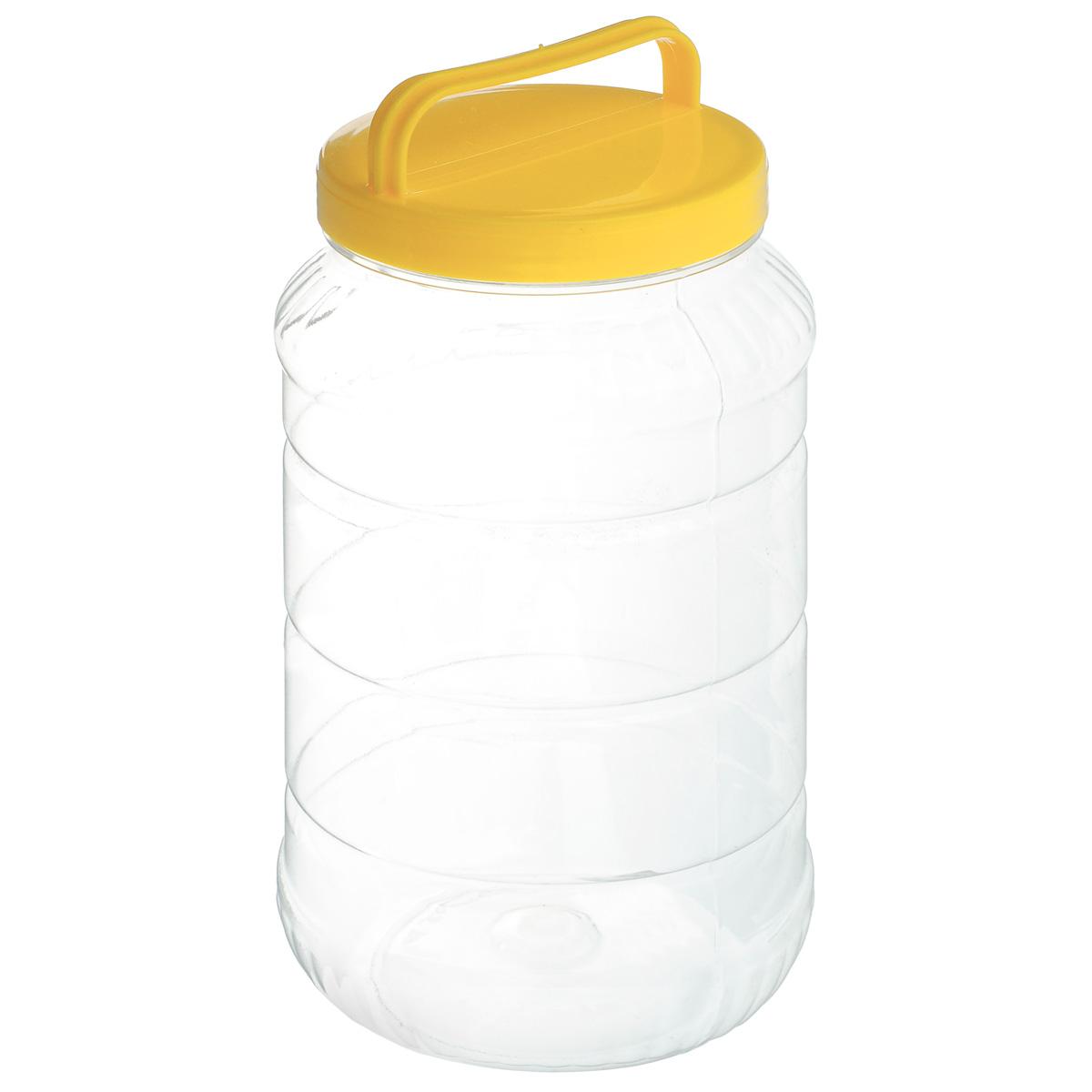 Бидон Альтернатива, цвет: желтый, 3 лМ462Бидон Альтернатива предназначен для хранения и переноски пищевых продуктов, таких как молоко, вода и прочее. Выполнен из пищевого высококачественного ПЭТ. Оснащен ручкой для удобной переноски. Бидон Альтернатива станет незаменимым аксессуаром на вашей кухне. Высота бидона (без учета крышки): 25 см. Диаметр: 10,5 см.