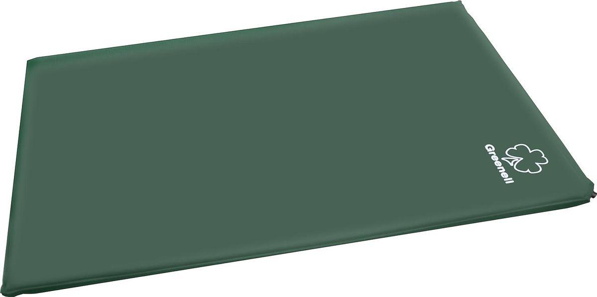 """Коврик самонадувающий Greenell """"Комфорт Плюс"""", цвет: зеленый, 198 см х 130 см х 5 см 95278-366-00"""