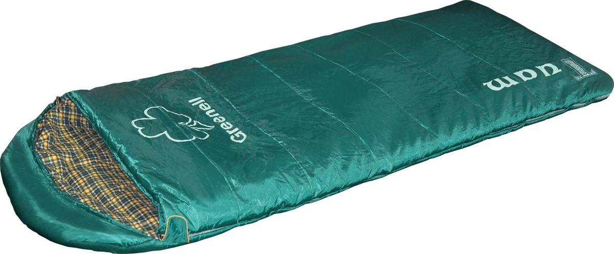 Мешок спальный Greenell Туам, правосторонняя молния, цвет: зеленый, 220 см х 90 смa026124Greenell Туам - это отличная модель для зимы с порогом температуры до -°С, при весе 2кг! Спальник имеет размеры 90 на 220см, что позволяет комфортно разместиться на ночлег даже в зимнем костюме. Еще одной отличительной чертой этой модели является новая техника плетения Hollowfiber, что обеспечивает спальнику отличные температурные показатели. Для всех любителей комфортного кемпинга в спальнике специально улучшена внутренняя ткань - фланель, она очень нежная и приятная коже,что в очередной раз выделяет эту модель из категории теплых кемпинговых спальников и позволяет хозяину спальника наслаждаться отдыхом не стесняя себя ночной одежды.В комплекте чехол для переноски и хранения.