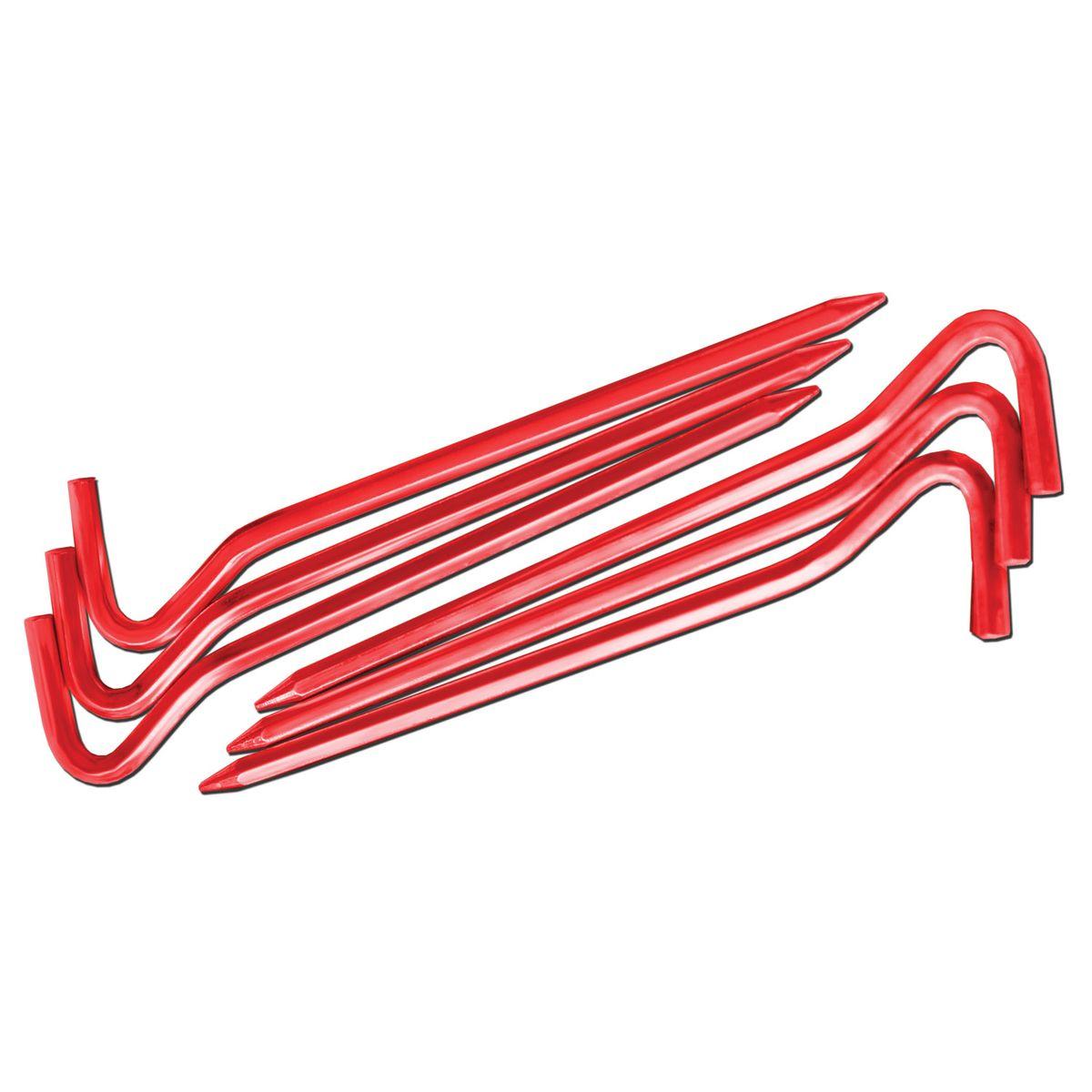 Комплект колышков шестигранных Nova Tour v2, цвет: красный металлик, 10 шт95642-013-00Легкие и прочные колышки Nova Tour v2 предназначены для установки палатки. Яркие, не теряются в траве. Изготовлены из алюминиевого сплава. В комплекте 10 шестигранных колышков усиленной прочности