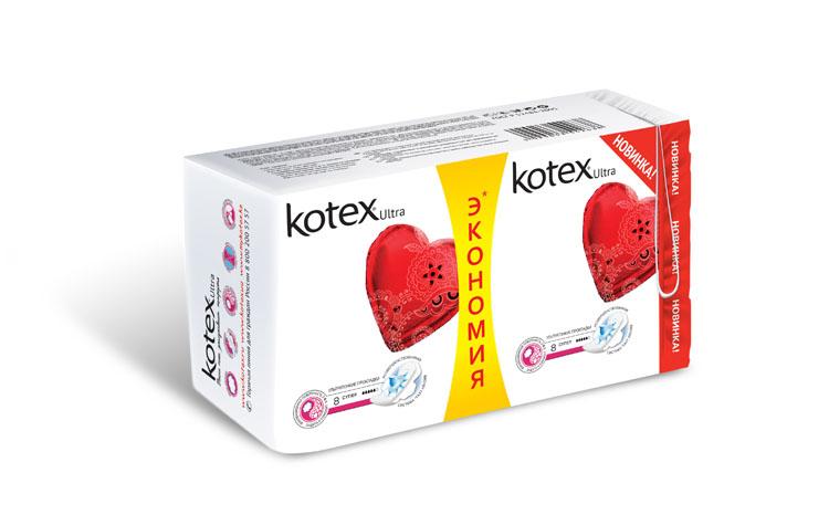 """Kotex Гигиенические прокладки """"Ultra. Super"""" с крылышками, с сеточкой, 16 шт 26061140121"""