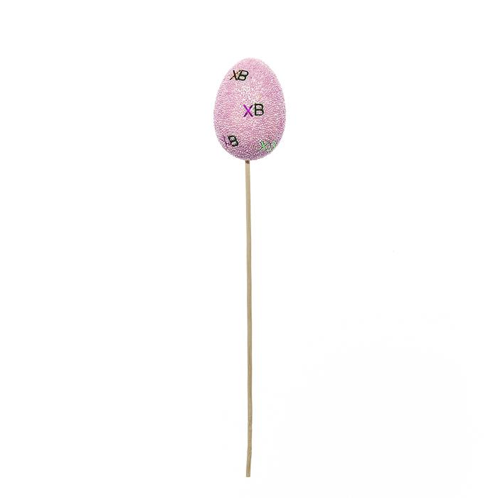 Набор пасхальных украшений на ножке Home Queen Узоры, цвет: розовый, высота 30 см, 2 шт64416Набор украшений Home Queen Узоры состоит из 2 яиц на деревянной ножке, изготовленных из пенопласта. Изделия декорированы бусинами из пенопласта и блестящими буквами ХВ. Такие украшения прекрасно дополнят подарок для друзей или близких на Пасху. Высота украшения: 30 см. Размер яйца: 7 см х 5 см.
