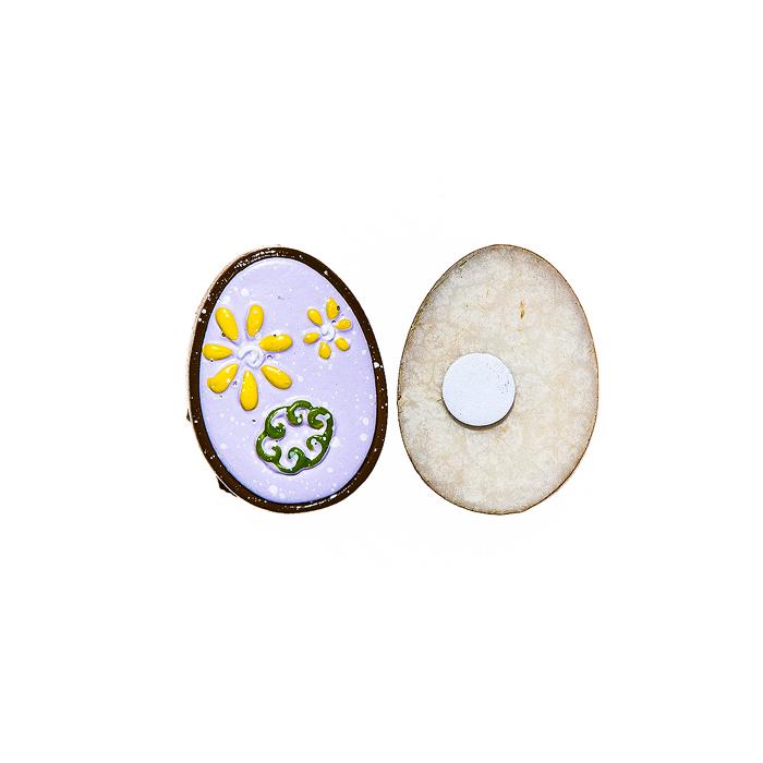 Набор декоративных украшений для яиц Home Queen Праздник, цвет: сиреневый, 6 штNLED-405-0.5W-MНабор Home Queen Праздник состоит из шести декоративных элементов и предназначен для украшения яиц, посуды, стекла, керамики, металла, цветочных горшков, ваз и других предметов интерьера. Украшения изготовлены из высококачественной полирезины в виде яиц и фиксируются при помощи специальной клейкой основы. Такой набор украшений создаст атмосферу праздника в вашем доме. Размер фигурки: 3 см х 0,5 см х 2,2 см.