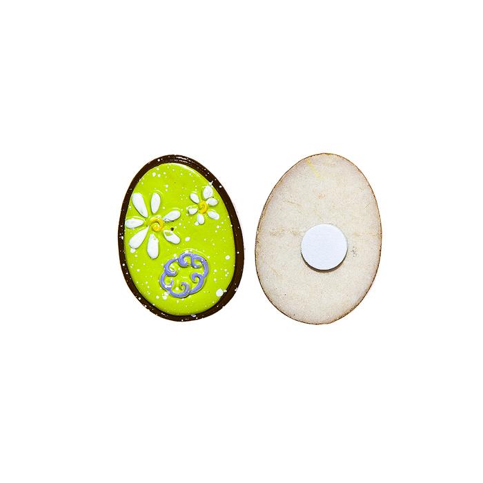 Набор декоративных украшений для яиц Home Queen Праздник, на клейкой основе, цвет: зеленый, 6 шт64505Набор Home Queen Праздник состоит из шести декоративных элементов и предназначен для украшения яиц, посуды, стекла, керамики, металла, цветочных горшков, ваз и других предметов интерьера. Украшения изготовлены из высококачественной полирезины в виде яиц и фиксируются при помощи специальной клейкой основы. Такой набор украшений создаст атмосферу праздника в вашем доме. Размер фигурки: 3 см х 0,5 см х 2,2 см.