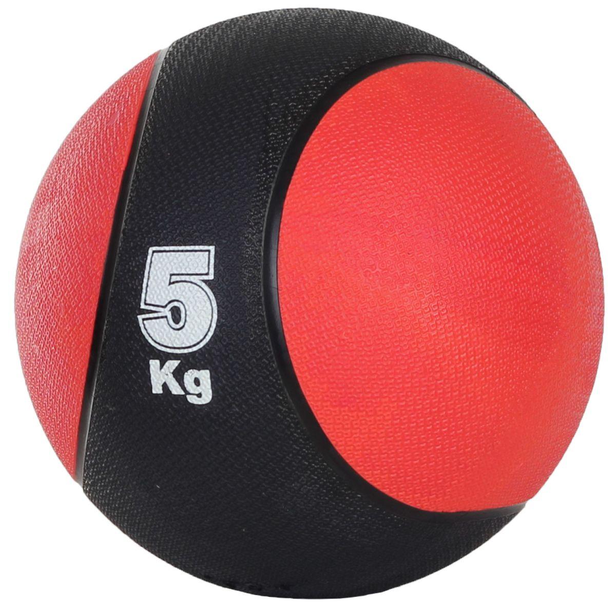 Медицинбол Start Up MBR5, цвет: черный, красный, 5 кг, 24 см290262Медицинбол Start Up MBR5 - тренировочный мяч, который прекрасно подходит для занятий фитнесом, аэробикой или ЛФК (лечебной физкультурой). Шероховатая поверхность не дает ему выскользнуть из рук. Предназначен для укрепления мышц плечевого пояса, спины, рук и ног. Мяч выполнен из резины, наполнен также резиной.