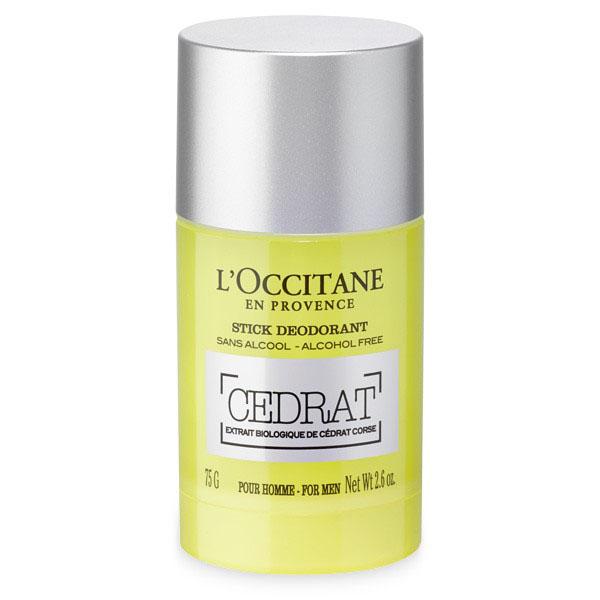 LOccitane Деодорант-стик Cedrat 75 г40119_белый, фиолетовыйКруглый дезодорант-стик имеет идеальный размер и мягко скользит по коже, не оставляя белых следов. Он нейтрализует неприятные запахи, оставляя бодрящий аромат туалетной воды «Цедрат». Не содержит солей алюминия.