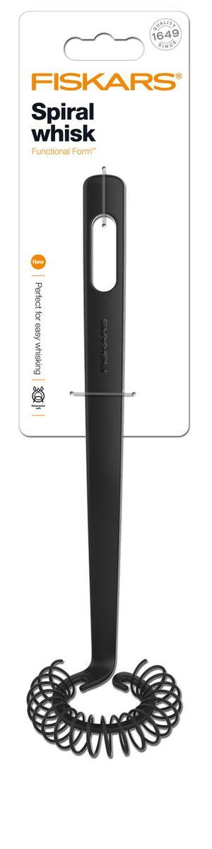 Венчик спиралевидный Fiskars, длина 27 см94672Венчик Fiskars станет верным помощником на вашей кухне. Предназначен для взбивания кулинарных смесей. Рабочая поверхность изготовлена из высококачественного силикона. Рукоятка, оснащенная отверстием для подвешивания на крючок, выполнена из особопрочной пластмассы с покрытием Softouch. Венчик Fiskars станет прекрасным дополнением к коллекции ваших кухонных аксессуаров. Можно мыть в посудомоечной машине.Длина венчика: 27 см. Размер рабочей части: 7 см х 6,5 см х 2 см.