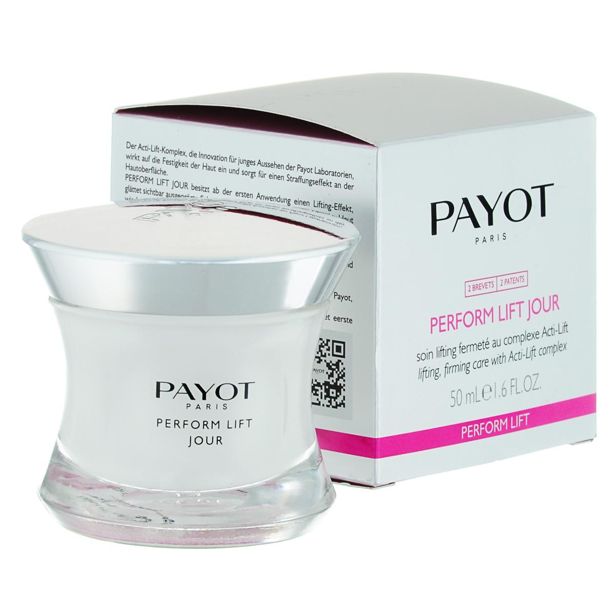 Payot Укрепляющее и подтягивающее средство Perform Lift для лица 50 млБ63003 мятаКрем подтягивает и разглаживает кожу; возвращает коже упругость и эластичность; заметно разглаживает глубокие морщины.Наносите крем утром на очищенную кожу лица.