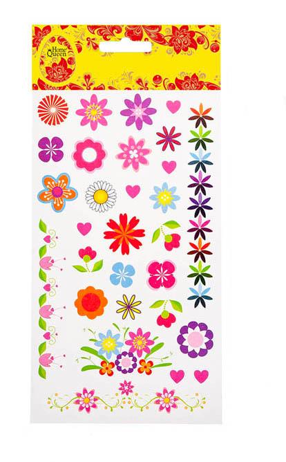 Набор переводных наклеек для яиц Home Queen Флора и фауна. Цветы, 29 шт68236_1Набор Home Queen Флора и фауна. Цветы состоит из 29 переводных наклеек, которые предназначены для декорирования пасхальных яиц. Наклейки выполнены из ПВХ в виде различных цветов. Такой набор украшений создаст атмосферу праздника в вашем доме. Средний размер наклейки: 1,8 см х 1,8 см.