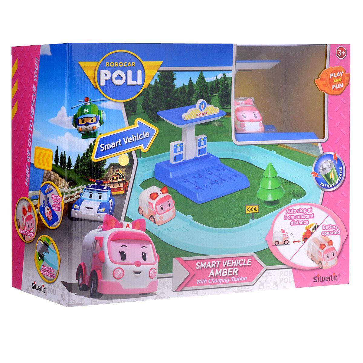 Robocar Poli Игрушечный трек Умная машинка Эмбер 83271