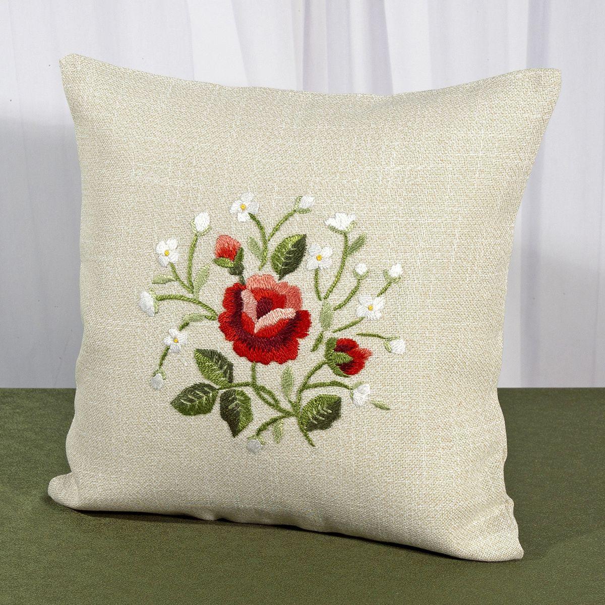 Наволочка декоративная Schaefer, цвет: бежевый, красный, 40 х 40 см 6400/390-40*401092029Великолепная наволочка Schaefer выполнена из полиэстера, имитирующего натуральный лен. С задней стороны имеется потайная молния. Вышитые вручную розы в ярких тонах создают атмосферу домашнего уюта. Такая наволочка станет в вашем доме изысканным украшением, которое можно передавать из поколения в поколение!Вещи из полиэстера легко стирать: они не мнутся, не садятся и быстро сохнут, они более долговечны, чем изделия из натуральных волокон.