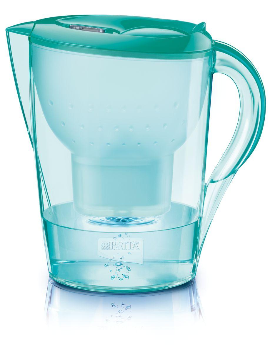 Фильтр-кувшин для воды Brita Color Edition XL, цвет: зеленый, 3,5 л1016103Фильтр-кувшин Brita Color Edition XL, выполненный из цветного пластика, станет необходимым помощником на вашей кухне. Вода, очищенная данным фильтром обладает рядом преимуществ: - улучшает вкус горячих и холодных напитков, - увеличивает срок службы бытовых приборов, препятствуя образованию накипи, - идеальна для приготовления вкусной и здоровой пищи, - придает более насыщенный вкус и аромат чаю и кофе. Технология картриджа Maxtra снижает содержание в воде таких веществ, как хлор, алюминий, тяжелые металлы (свинец и медь), некоторые пестициды и органические примеси. Также он отфильтровывает соли жесткости. Особенности данного фильтра: - только для Maxtra, - благодаря удобной функции (одним нажатием кнопки) заменить картридж очень просто, - откидная крышка в отверстии для заливки воды, - календарь: механический индикатор ресурса кассеты будет автоматически напоминать вам о необходимости заменить кассету...