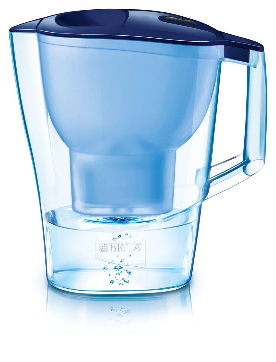 Фильтр-кувшин для воды Brita Aluna XL, цвет: синий, 3,5 л фильтр для воды brita aluna cool white