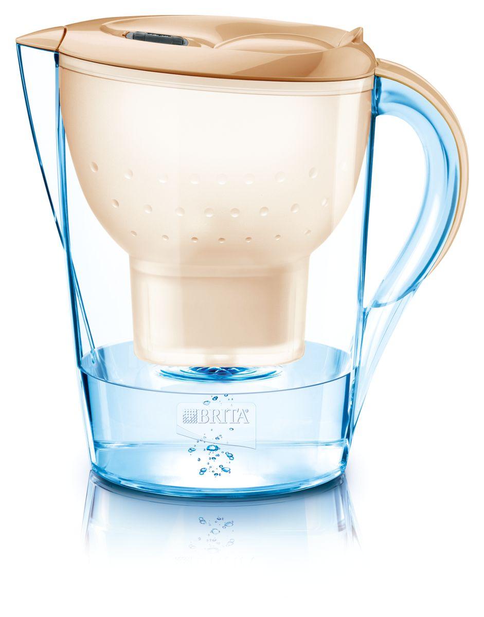 Фильтр-кувшин для воды Brita Marella XL, цвет: капучино, 3,5 лSC-FD421005Фильтр-кувшин Brita Marella XL, выполненный из пластика, станет необходимым помощником на вашей кухне. Вода, очищенная данным фильтром обладает рядом преимуществ:- улучшает вкус горячих и холодных напитков, - увеличивает срок службы бытовых приборов, препятствуя образованию накипи, - идеальна для приготовления вкусной и здоровой пищи, - придает более насыщенный вкус и аромат чаю и кофе. Технология картриджа Maxtra снижает содержание в воде таких веществ, как хлор, алюминий, тяжелые металлы (свинец и медь), некоторые пестициды и органические примеси. Также он отфильтровывает соли жесткости.Особенности данного фильтра: - только для Maxtra, - благодаря удобной функции (одним нажатием кнопки) заменить картридж очень просто, - откидная крышка в отверстии для заливки воды, - календарь: механический индикатор ресурса кассеты будет автоматически напоминать вам о необходимости заменить кассету через каждые 4 недели использования, - эргономичный дизайн, - фильтр можно мыть в посудомоечной машине (за исключением крышки).Фильтры Brita имеют уникальную систему очистки, которая помогает смягчить питьевую воду. Они предлагают идеальную возможность улучшить качество питьевой воды дома. Фильтры Brita снижают образование известкового налета. Инновации компании Brita подтверждаются значительным количеством патентов, в том числе и на международном уровне.Успех компании обуславливается постоянным расширением продуктовой линейки. Общий объем фильтра: 3,5 л.Полезный объем: 2 л.