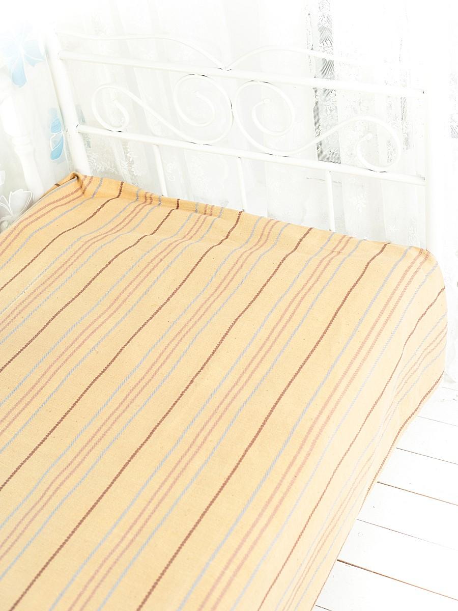 Покрывало Arloni Стокгольм, цвет: карамель, 200 х 240 см2042.4Покрывало Arloni Стокгольм прекрасно оформит интерьер гостиной или спальни. Изготовлено из экологически чистого материала - 100% хлопка, поэтому подходит как для взрослых, так и для детей. Натуральные краски абсолютно гипоаллергенны. Покрывало однотонное, оформлено вышивкой в виде разноцветных полосок. Хорошо смотрится и на диване, и на большой кровати. Покрывало Arloni не только подарит тепло, но и гармонично впишется в интерьер вашего дома.