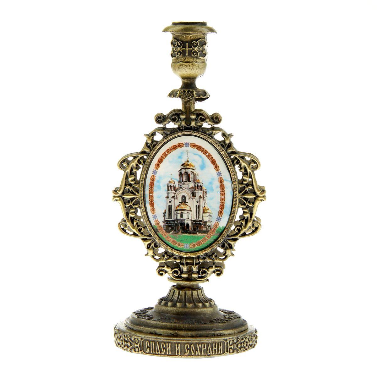 """Подсвечник Sima-land """"Храм-на-Крови"""", с иконой, высота 11 см 175970"""