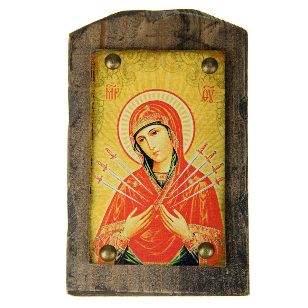 """Sima-land Икона на дереве """"Семистрельная икона Божией Матери"""", 9,5 х 15 см 806939"""