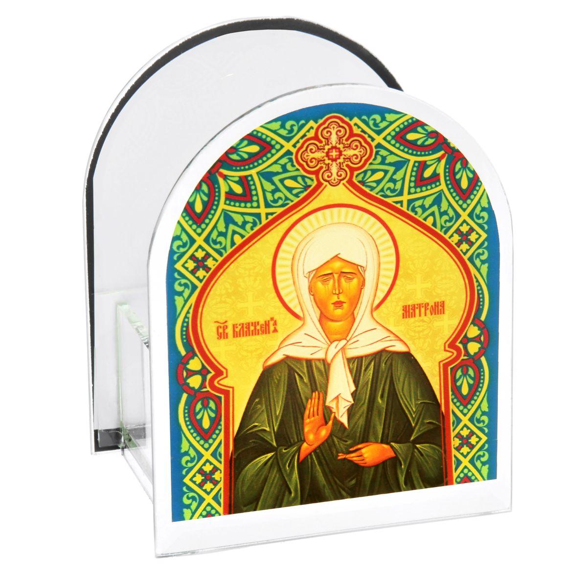 Подсвечник Sima-land Святая Матрона Московская842463Подсвечник Sima-land Святая Матрона Московская изготовлен из качественного стекла, предназначен для свечи в гильзе. С одной стороны подсвечника изображен лик святого, с другой стороны нанесена молитва. Зажгите свечку поставьте ее в подсвечник и наслаждайтесь теплом, которое наполнит ваше сердце. Такой подсвечник привнесет в ваш дом согласие и мир и будет прекрасным подарком, оберегающим близких вам людей. Размер подсвечника (ДхШхВ): 9 см х 7 см х 11 см. Диаметр отверстия для свечи: 4,5 см.