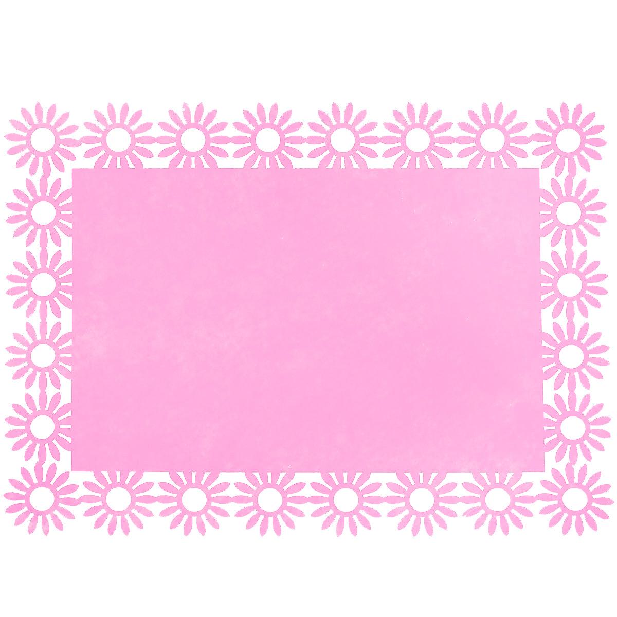 Салфетка Home Queen Веселый праздник, цвет: розовый, 30 х 40 см66843_4Прямоугольная салфетка Home Queen Веселый праздник выполнена из фетра и имеет красивую перфорацию по краям. Вы можете использовать салфетку для декорирования стола, комода, журнального столика. В любом случае она добавит в ваш дом стиля, изысканности и неповторимости и убережет мебель от царапин и потертостей. Размер салфетки: 30 см х 40 см х 0,2 см.