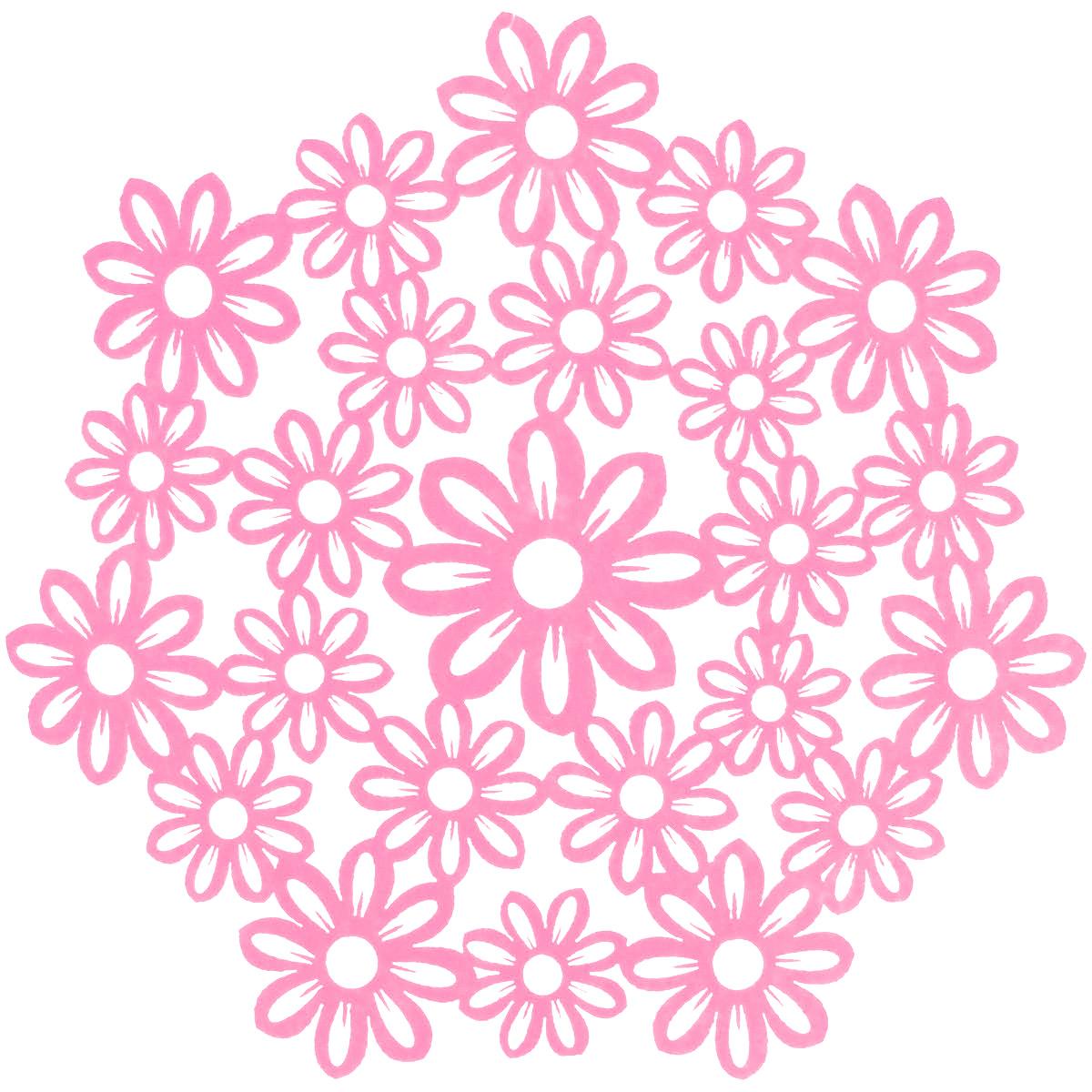 Салфетка Home Queen Незабудки, цвет: розовый, диаметр 28 смVT-1520(SR)Круглая салфетка Home Queen Незабудки выполнена из фетра и оснащена красивой перфорацией в виде цветов. Вы можете использовать салфетку для декорирования стола, комода, журнального столика. В любом случае она добавит в ваш дом стиля, изысканности и неповторимости и убережет мебель от царапин и потертостей. Диаметр салфетки: 28 см.