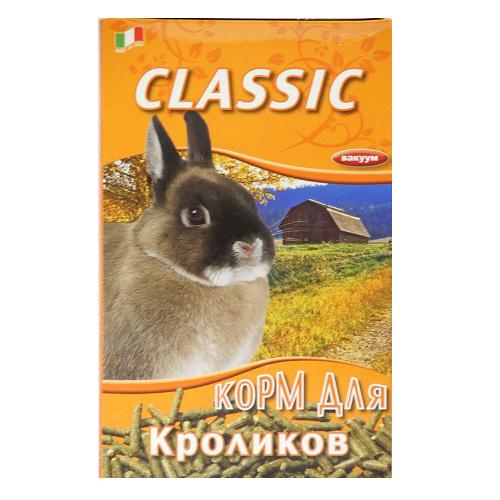 Корм для кроликов Fiory Classic, в гранулах, 680 г8125Корм Fiory Classic - классическая смесь для декоративных кроликов в гранулах. Корм упакован в вакуум. Готов к употреблению. Состав: фуражное зерно, отруби. Товар сертифицирован.