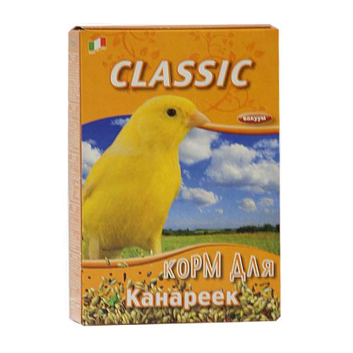 Корм для канареек Fiory Classic, 400 г0120710Корм Fiory Classic - классическая смесь для канареек. Корм упакован в вакуум. Готов к употреблению. Состав: семена канареечника, рапс, овес лущеный, лен, просо, семена конопли, нут абиссинский, пекарные продукты. Товар сертифицирован.