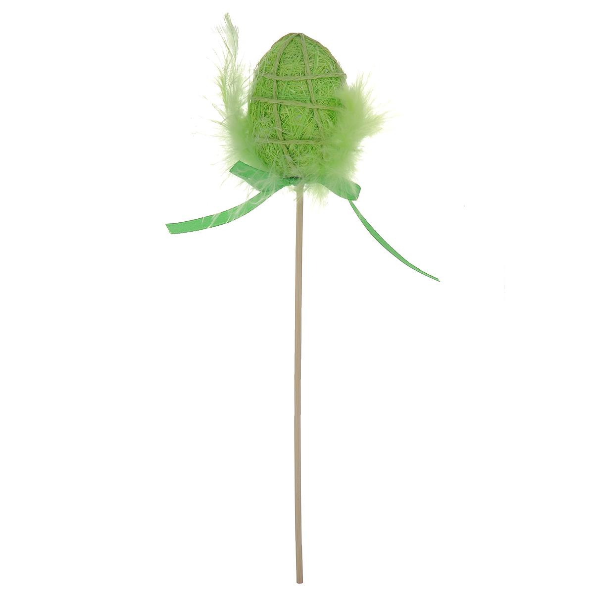 Декоративное пасхальное украшение на ножке Home Queen Яйцо с пухом. Разноцвет, цвет: зеленый, высота 25 см64387_1Декоративное украшение Home Queen Яйцо с пухом. Разноцвет выполнено из полиэстера в виде пасхального яйца на деревянной ножке, декорированного перьями. Изделие украшено текстильной лентой. Такое украшение прекрасно дополнит подарок для друзей или близких на Пасху. Высота: 25 см. Размер яйца: 6 см х 4,5 см.