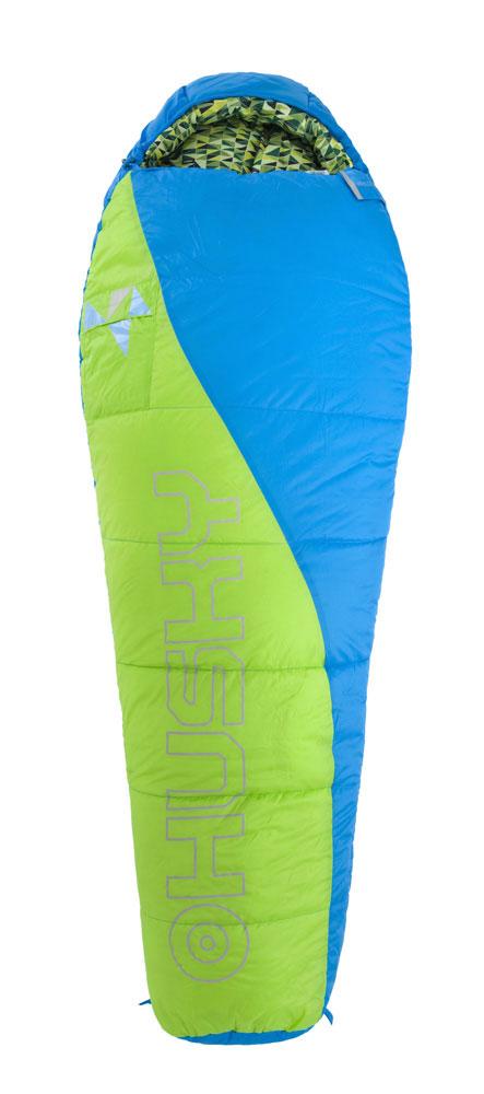 Спальный мешок Husky Kids Green, правосторонняя молния, цвет: синий, зеленыйУТ-000049082Спальный мешок Husky Kids создан для детей. Обеспечивает достаточную тепловую защиту для трех сезонов, но при этом занимает меньше места в рюкзаке. Карманы снаружи и внутри, натуральный материал внутри. В комплект также входит компрессионный мешок.