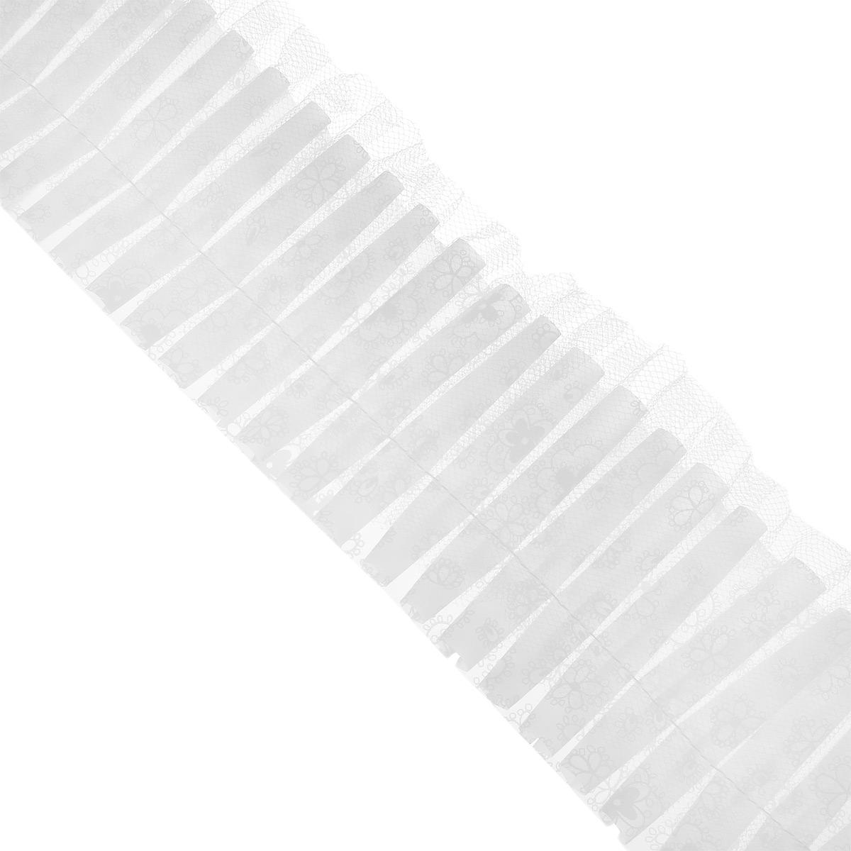 Кружево для украшения тортов Wilton, цвет: белый, ширина 7,6 см, длина 183 смWLT-802-1991Кружево Wilton предназначено для украшения кондитерских изделий. Изделие крепится на край подноса или подставки под торт. Кружевная лента на клеенчатой основе, ее можно мыть.