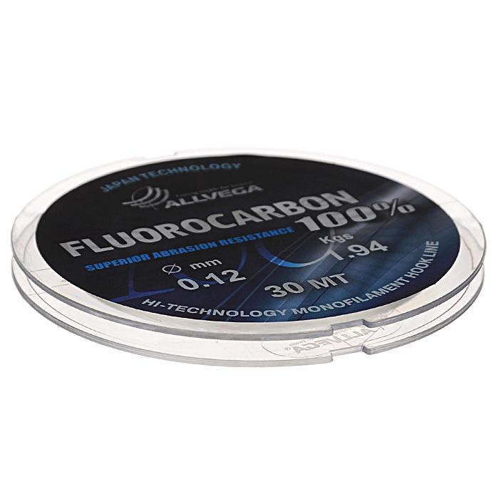 Леска Allvega FX Fluorocarbon 100%, цвет: прозрачный, 30 м, 0,12 мм, 1,94 кг218032Allvega FX Fluorocarbon 100% имеет коэффициент преломления света, близкий к коэффициенту преломления света воды, поэтому эта леска незаметна в воде и незаменима во многих случаях. Широко используется в качестве поводковой лески, как для мирных рыб, так и для хищников. Кроме прозрачности, так же обладает высокой устойчивостью к внешним механическим воздействиям, таким как камни, песок, ракушечник, зубы хищников. Обладает малой растяжимостью, что позволяет более четко определять поклевку и просекать рыбу.