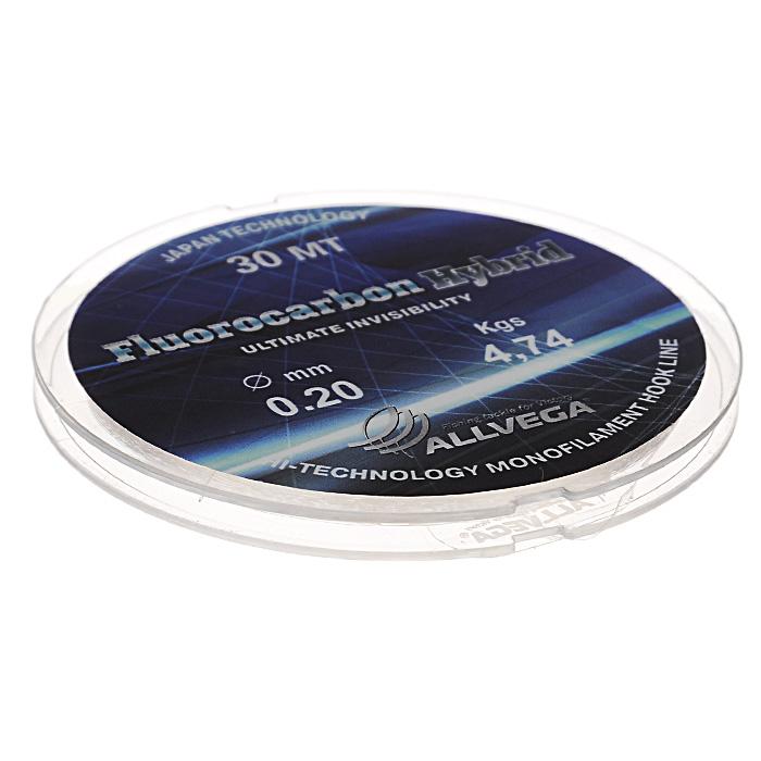 Леска Allvega Fluorocarbon Hybrid, цвет: прозрачный, 30 м, 0,2 мм, 4,74 кг36177Прозрачная леска Allvega Fluorocarbon Hybrid, состоящая из 65 % флюрокарбона. Флюрокарбоновое покрытие позволяет максимально повысить характеристики, при этом цена лески остается относительно низкой.